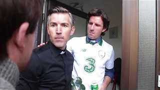 Parishioner Interrupts Priest During Irish Soccer Game in Hilarious Comedy Sketch - Video