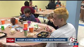 Hoosier Academies helps student,families purchase thanksgiving meals - Video