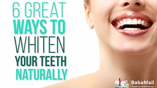 6 incredibly easy ways to whiten your teeth naturally - Video