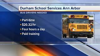 School bus drivers needed in Ann Arbor area - Video