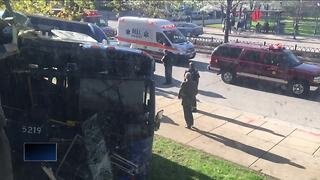 Milwaukee County bus crashes on Marquette's campus - Video