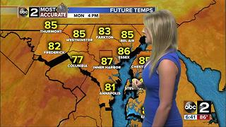 Maryland's Most Accurate Forecast - Turning Humid and Hotter - Video