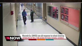 Macomb County safety system allows officials to use cameras to track school shooters - Video