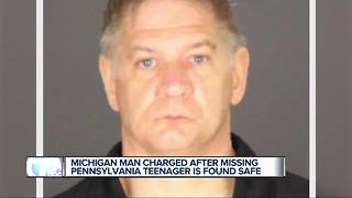 Michigan man charged after missing Pennsylvania teen found safe - Video