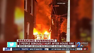 2 people hurt after house fire