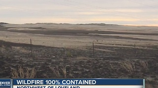 Bobcat Power Line Fire 100 percent contained - Video