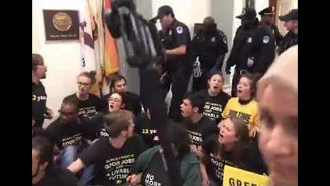 Climate Protesters Arrested During Sit-In at Nancy Pelosi's Office