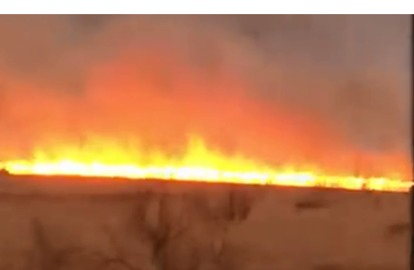 Residents Evacuate Homes After Huge Wildfire Breaks Out in Amarillo