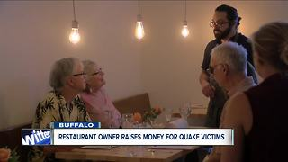 Restaurant owner raises money for quake victims