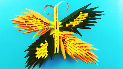 3d origami butterfly - How to make a 3d origami butterfly