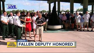 Fallen Deputy honored with dog park - Video