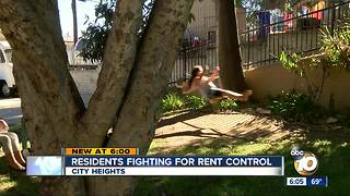 Residents fighting for rent control - Video