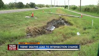 FDOT makes changes to dangerous intersection after two teens killed in crash