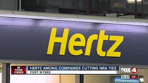 Hertz and others cut ties with NRA