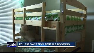 Vacation rentals booming ahead of solar eclipse - Video
