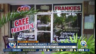 4 area restaurants temporarily closed