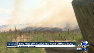 Spring Glade Fire burning between Fort Collins and Loveland - Video