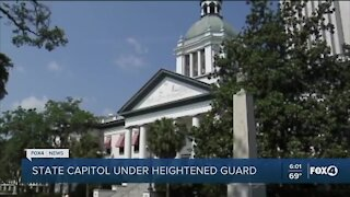 State capitol under heightened security