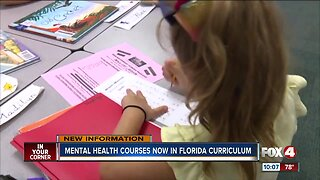 Mental health courses now in Florida curriculum