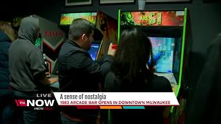 Arcade bar opens in downtown Milwaukee - Video