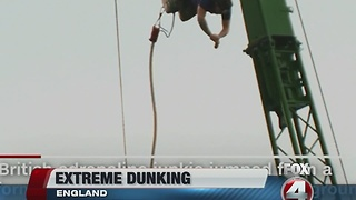 Bungee biscuit dunk sets world record - Video