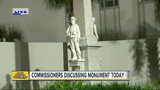 Process begins to remove Confederate statue from downtown Tampa - Video