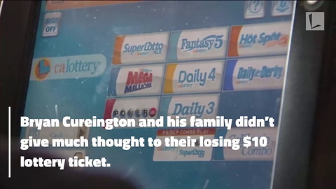 Man Pulls Lottery Ticket from Garbage, Discovers It's Worth $200,000
