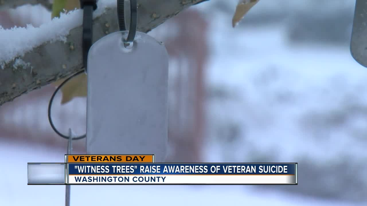Washington County 'witness tree' brings awareness to veteran suicide