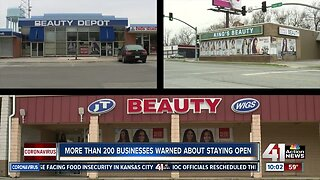 More than 200 businesses warned about staying open
