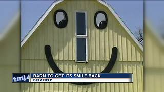 Delafield Smiley Barn being repainted, set to open next month - Video