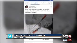 Neighbors find syringes around Cape Coral neighborhood - Video