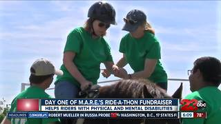 Ride-A-Thon raises money for horseback riding therapy - Video