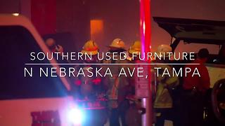 Overnight fire destroys Southern Used Furniture store in Tampa | Digital Short - Video