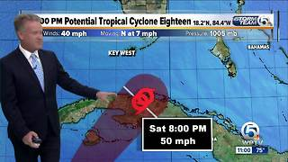 National Hurricane Center issues advisories on Potential Tropical Cyclone 18 - Video