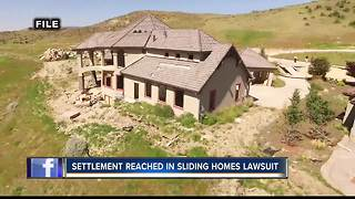 Settlement reached in sliding homes lawsuit