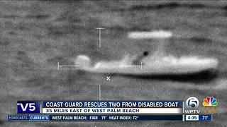 Coast Guard rescues 2 Bahamians off West Palm Beach - Video