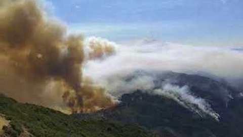 Progression of California's Holy Fire Captured in Timelapse from Santiago Peak