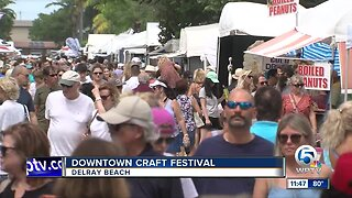 Delray Beach holds downtown craft festival