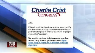 Congressman Charlie Crist fighting back against accusations - Video