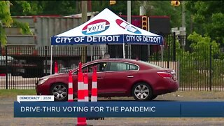 Residents using drive-thru voting option for Primary Election