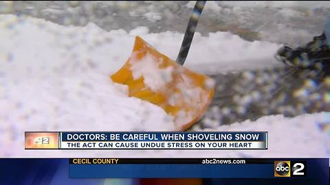 Doctors warn about the dangers of shoveling snow