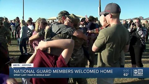 National Guard members welcomed home