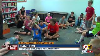 Camp Give teaches children philanthropy - Video
