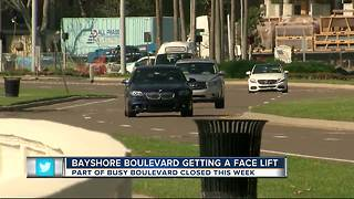 Crews begin 2-month-long construction project along Bayshore Boulevard - Video