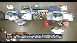 Group of eight scams Walmart after self-checkout register error - Video