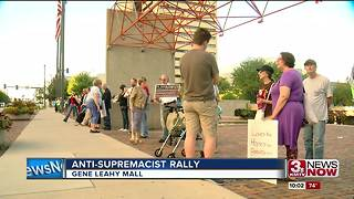 Omaha rally protests Trump response to Charlottesville - Video
