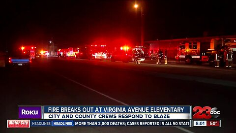 Fire breaks out at Virginia Avenue Elementary School
