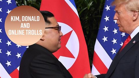 Trolling the summit: Tweets on Trump and Kim's meeting