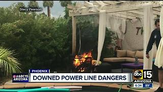 What to do if power lines snap and cause a fire - Video