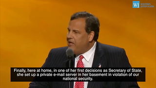 Chris Christie Prosecutes Hillary Clinton At RNC - Video
